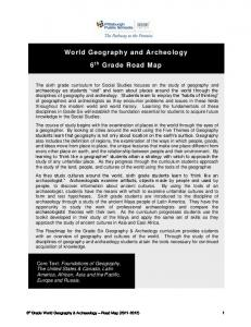 World Geography and Archeology 6 th Grade Road Map