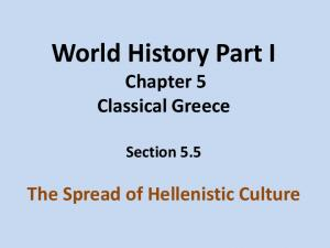 World History Part I Chapter 5 Classical Greece