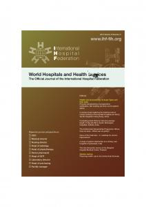 World Hospitals and Health Services
