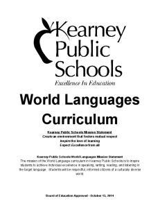World Languages Curriculum