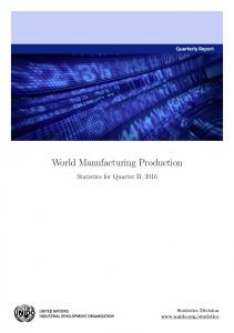 World Manufacturing Production