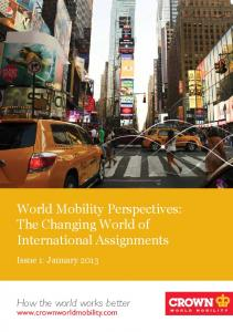 World Mobility Perspectives: The Changing World of International Assignments