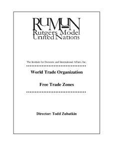 World Trade Organization. Free Trade Zones