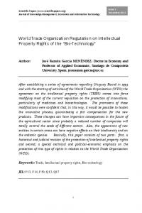 World Trade Organization Regulation on Intellectual Property Rights of the Bio-Technology
