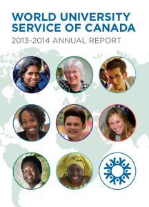 WORLD UNIVERSITY SERVICE OF CANADA ANNUAL REPORT