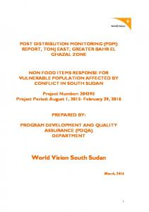 World Vision South Sudan
