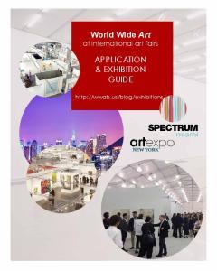 World Wide Art at international art fairs APPLICATION & EXHIBITION GUIDE