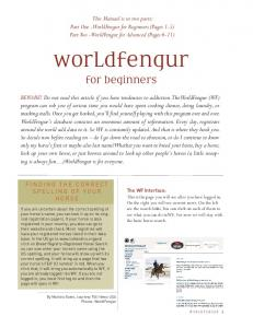 worldfengur for beginners
