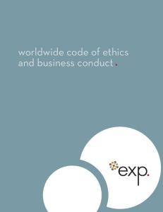 worldwide code of ethics and business conduct