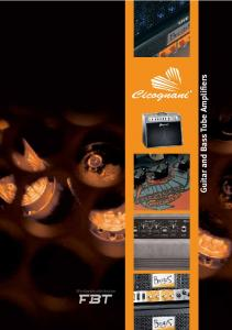 Worldwide distribution. Guitar and Bass Tube Amplifiers