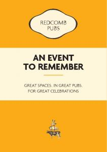 WORPLESDON PUBS AN EVENT TO REMEMBER GREAT SPACES, IN GREAT PUBS, FOR GREAT CELEBRATIONS
