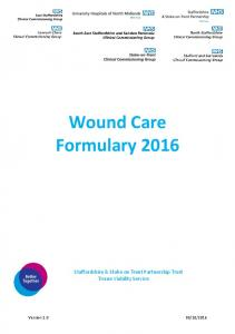 Wound Care Formulary 2016
