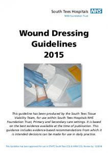 Wound Dressing Guidelines 2015