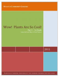 Wow! Plants Are So Cool!