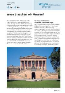 Wozu brauchen wir Museen?