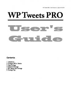 WP Tweets PRO User's Guide