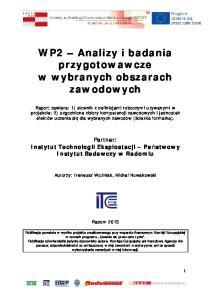 WP2 Analizy i badania