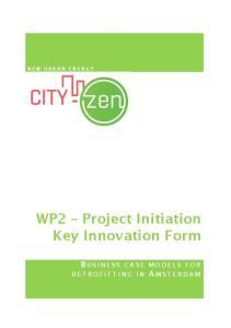 WP2 Project Initiation Key Innovation Form
