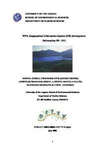 WP3. Geographical Information System (GIS) development Deliverables D9 D11