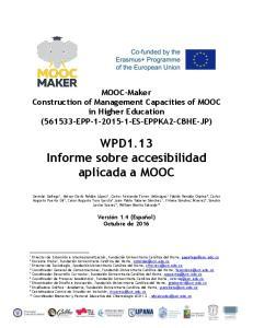 WPD1.13 Informe sobre accesibilidad aplicada a MOOC