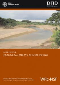 WRc-NSF ECOLOGICAL EFFECTS OF RIVER MINING RIVER MINING: