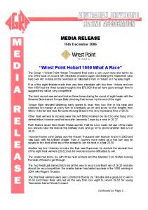 Wrest Point Hobart 1000 What A Race