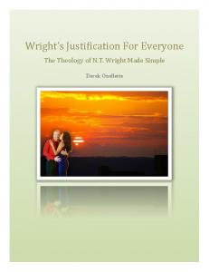 Wright s Justification For Everyone