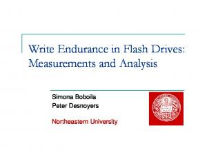 Write Endurance in Flash Drives: Measurements and Analysis