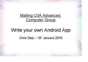 Write your own Android App