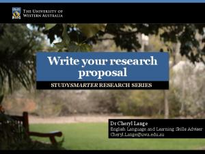 Write your research proposal