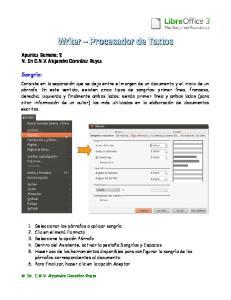 Writer Procesador de Textos