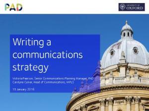 Writing a communications strategy