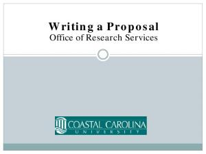Writing a Proposal. Office of Research Services
