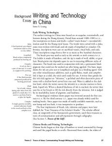 Writing and Technology in China