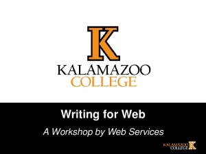 Writing for Web. A Workshop by Web Services