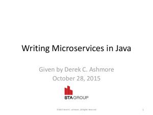 Writing Microservices in Java
