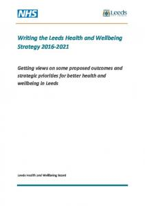 Writing the Leeds Health and Wellbeing Strategy