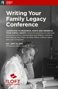 Writing Your Family Legacy Conference