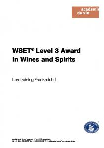 WSET Level 3 Award in Wines and Spirits