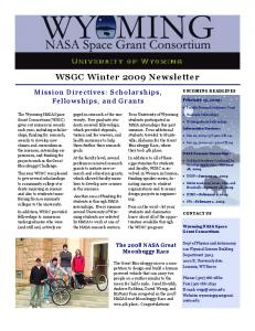 WSGC Winter 2009 Newsletter