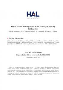 WSN Power Management with Battery Capacity Estimation