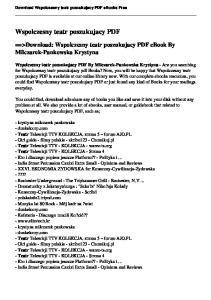 Wspolczesny teatr poszukujacy PDF