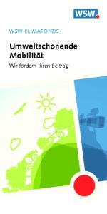 WSW KLIMAFONDS Umweltschonende Mobilität