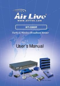 WT-2000R Turbo-G Wireless Broadband Router