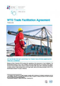 WTO Trade Facilitation Agreement