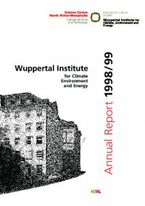 Wuppertal Institute for Climate Environment and Energy