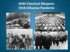 WWI Chemical Weapons 1918 Influenza Pandemic