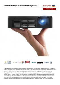 WXGA Ultra-portable LED Projector