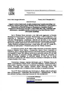 Wydział Chemii. ul. Umultowska 89b, Poznań. NIP , REGON Tel. kom