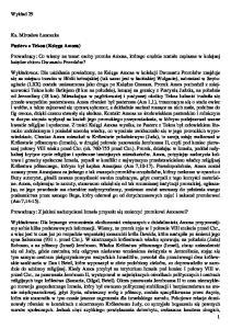 Wykład 29. Ks. Mirosław Łanoszka. Pasterz z Tekoa (Księga Amosa)